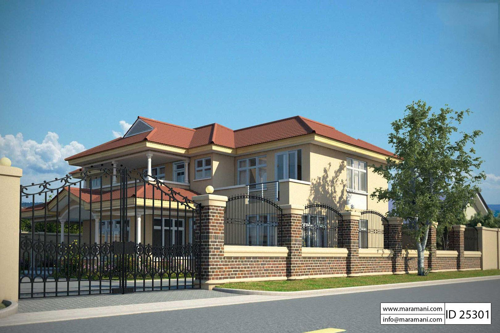 5 Bedroom House Plan 2 Story - Id 25301