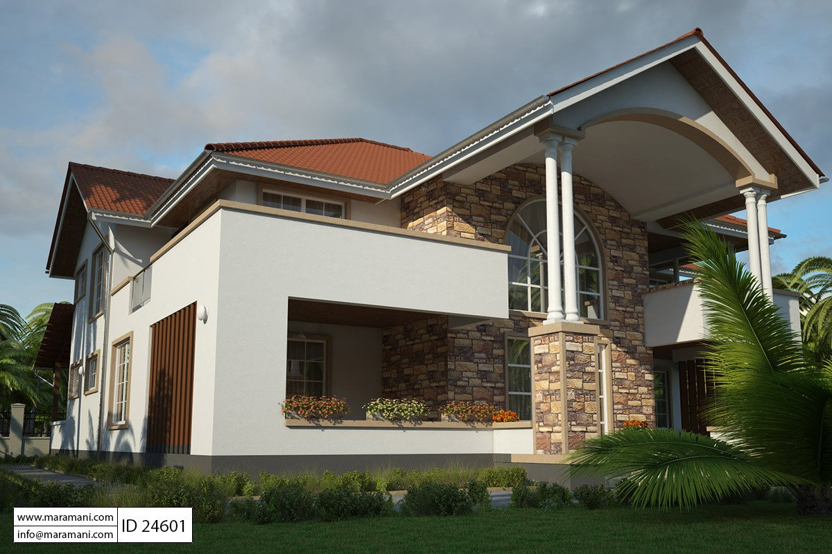 4 Bedroom Modern House Plan - ID 24601 - Building Designs by Maramani