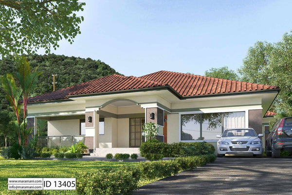 3 Bedrooms Floor Plan - ID 13405 - House Designs by Maramani
