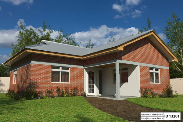 Simple 3 Bedroom house plan - ID 13201 - House Plans by Maramani