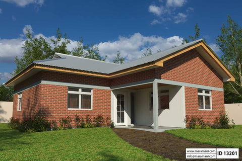 3D 2 large - 22+ Simple Very Small House 1 Bedroom House Design PNG
