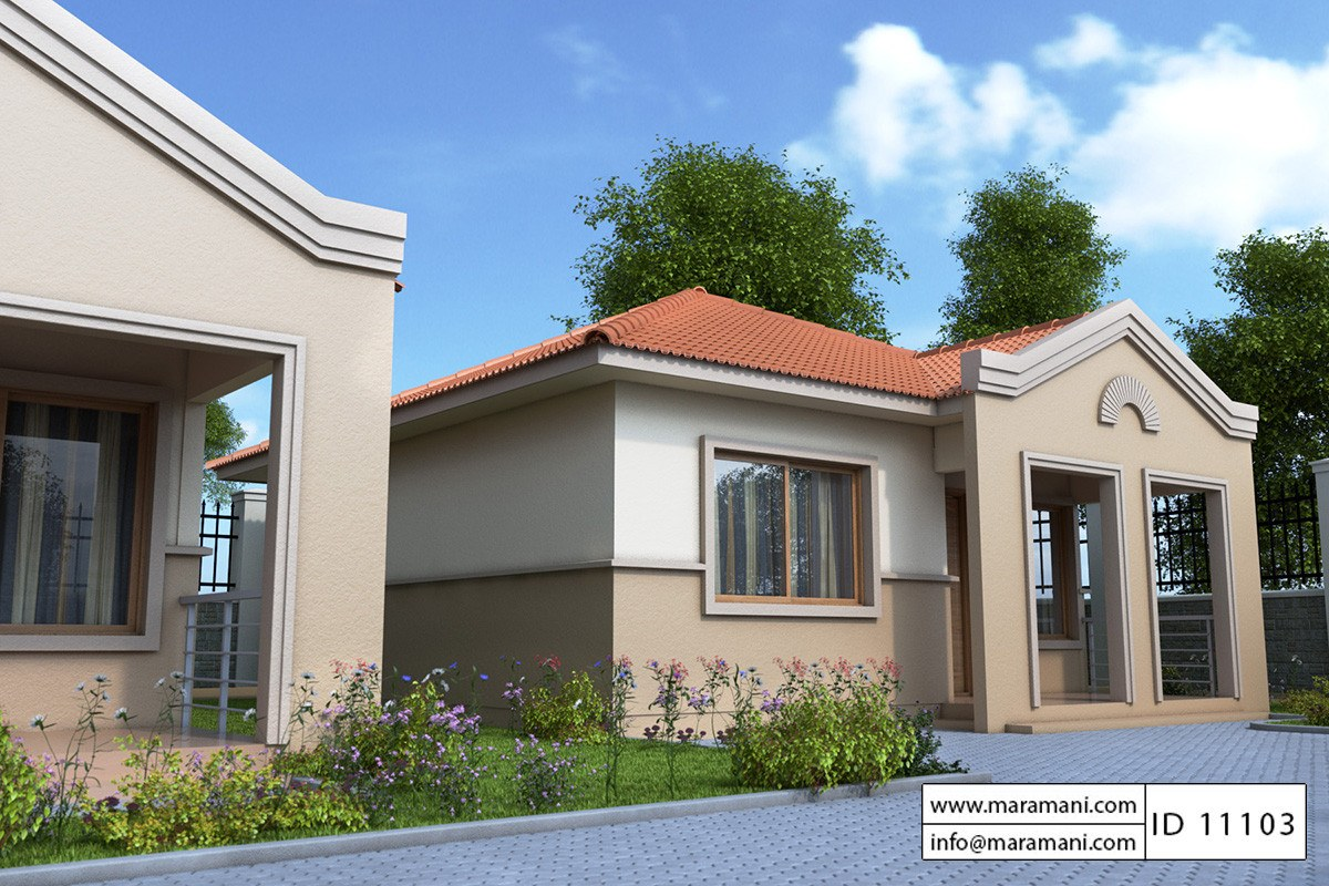 Small modern house plan id 11103 house designs by maramani for One bedroom house plans with photos