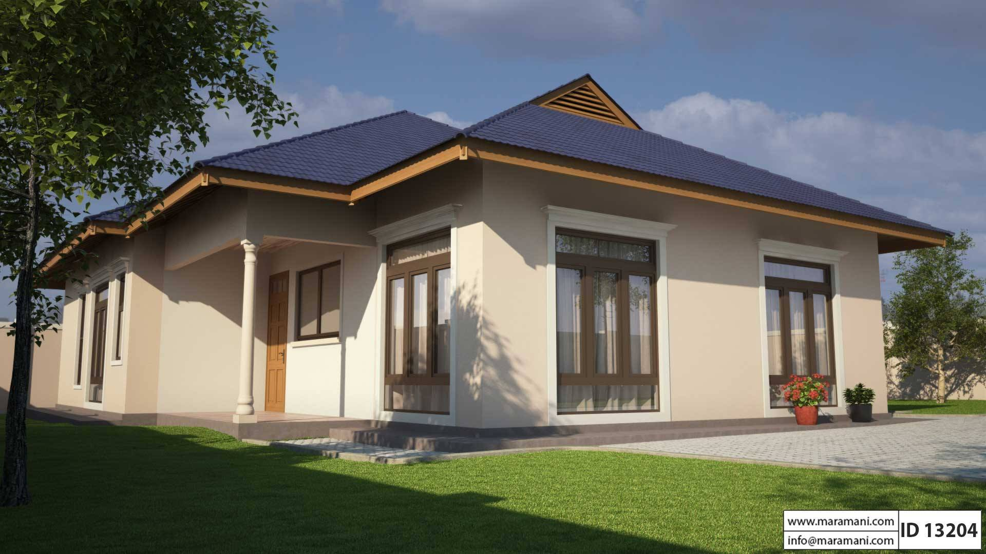 Small Three Bedroom House Plan   ID 13204   Floor Plans By Maramani