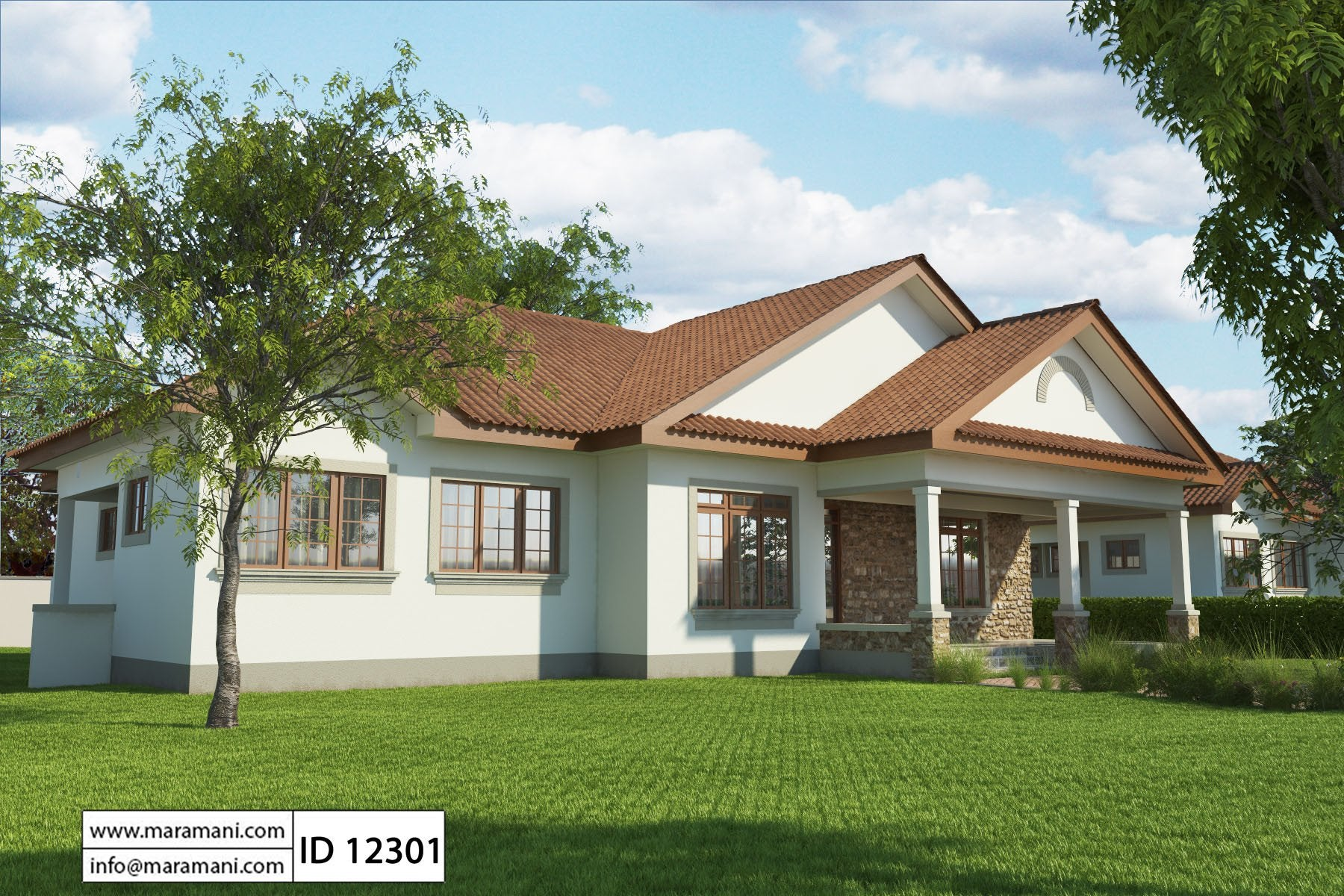 Simple 2 bedroom house plan id 13402 house designs by maramani - Two bedroom houses attic ...