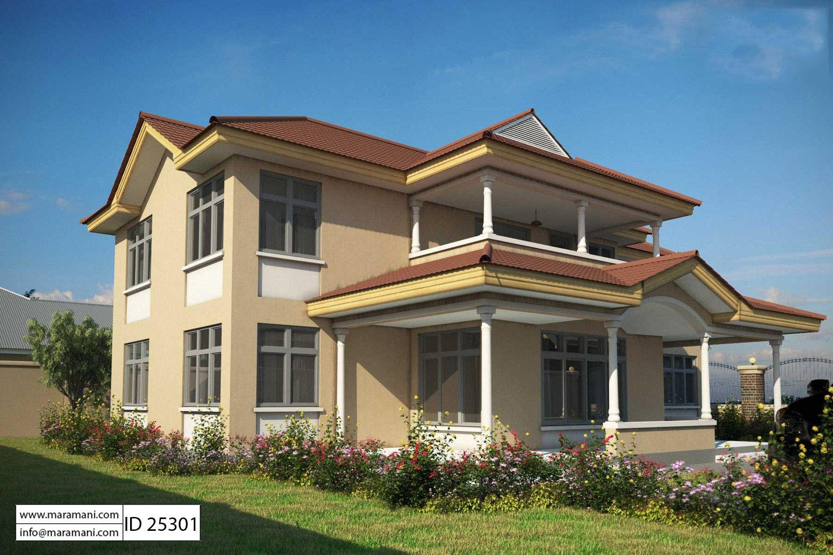 bedroom house plan 2 story id 25301 house plans by maramani 5 bedroom house plan 2 story id 25301 house plans by maramani