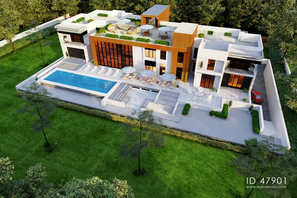 Contemporary Mega Mansion - ID 47901