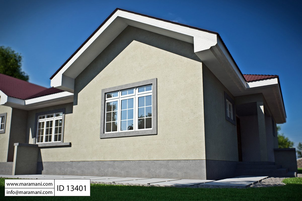 3 bedroom house plan id 13401 house plans by maramani for Three bedrooms house plan