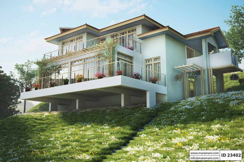Steep Slope House Plan With 3 Bedrooms Id 23402