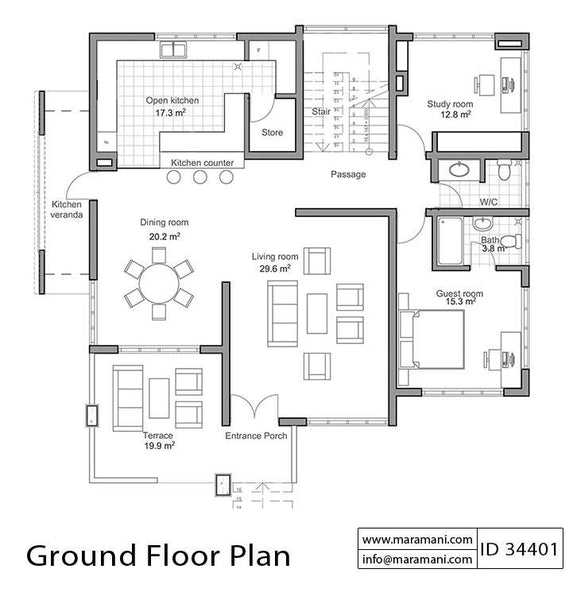 Four Bedroom House For Sloping Ground Id 34401