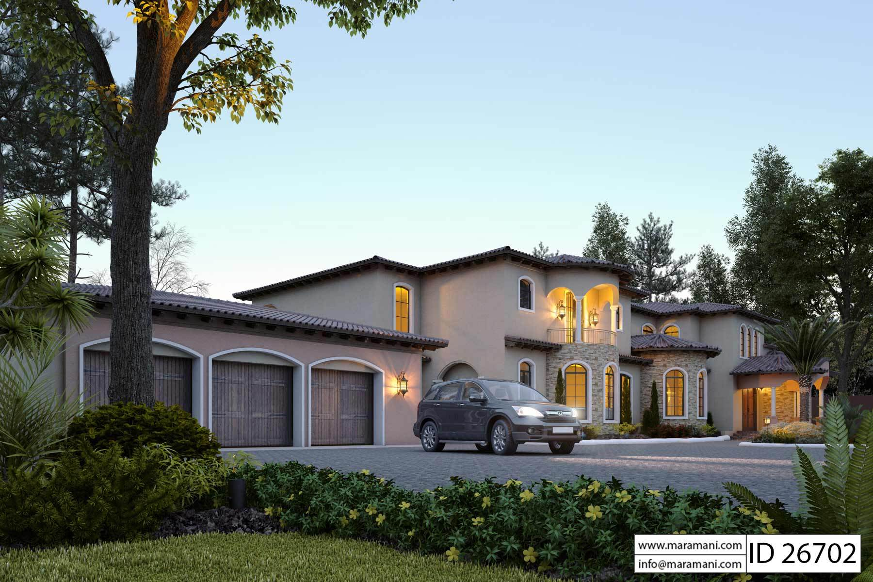 Huge Mansion Floor Plan   ID26702   House Plans By Maramani