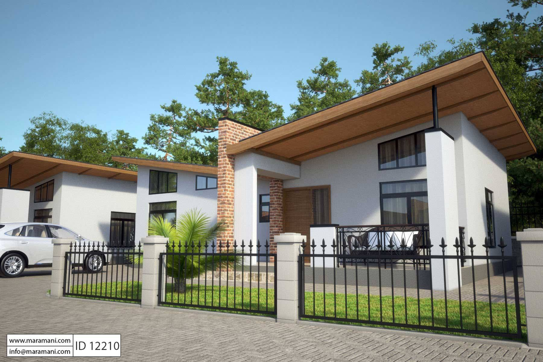 2 bedroom house plan id 12210 house designs by maramani for Building a one room house