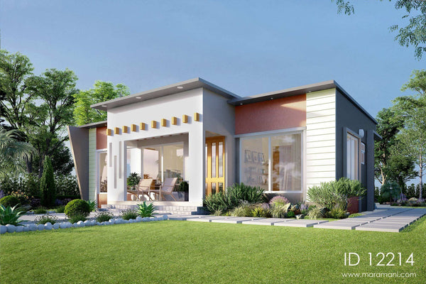 Intricate facade 2 bedroom house - ID 12214