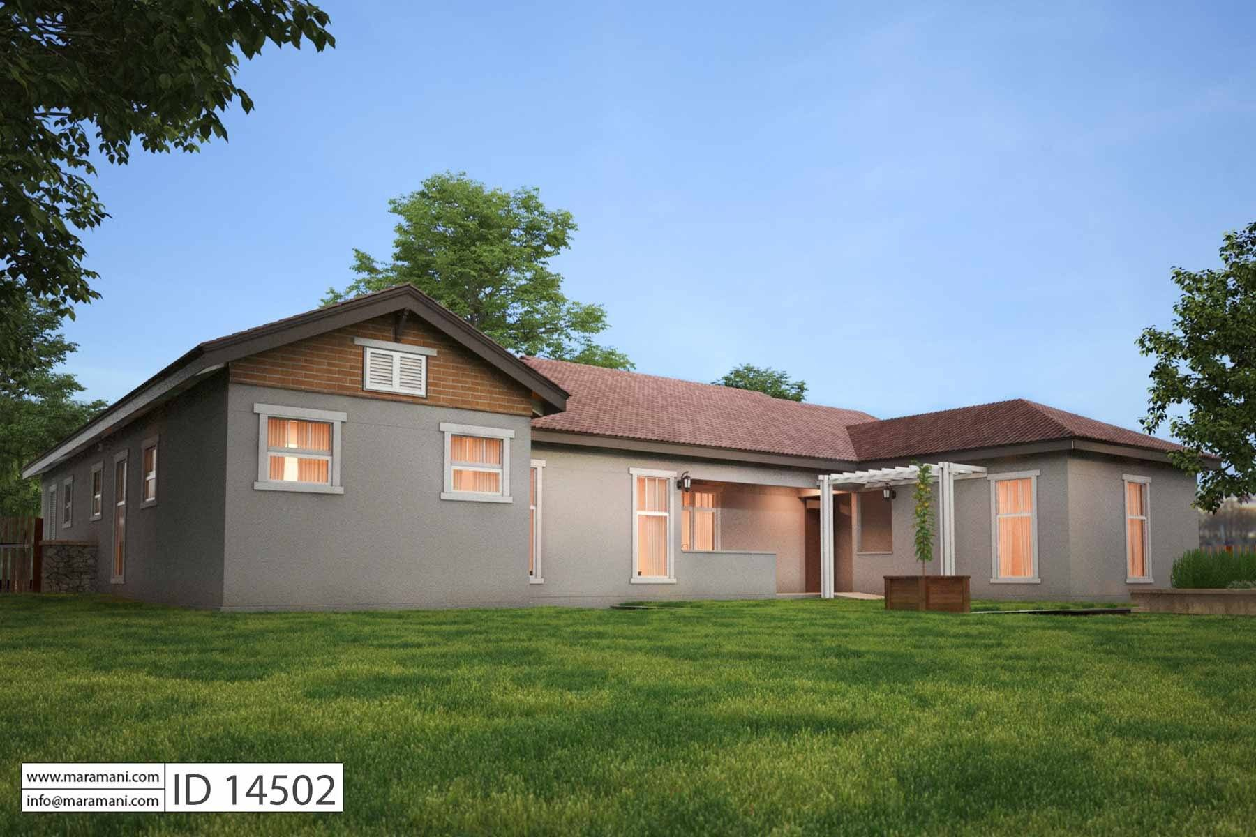Four Bedroom Bungalow House Plan - ID 14502 - Floor Plans by Maramani