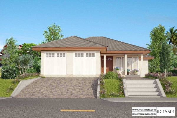 5 bedroom house plan 1 story - ID 15501 - House Plans by Maramani