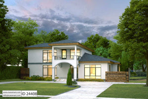 Urban 4 Bedroom House Plan - ID 24408
