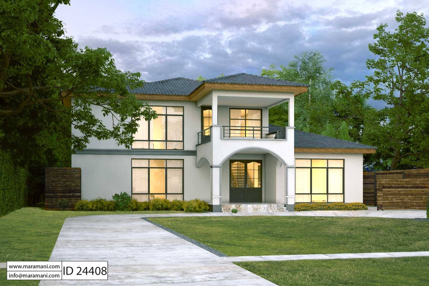 Urban 4 bedroom house plan id 24408 house plans maramani for Urban house plans