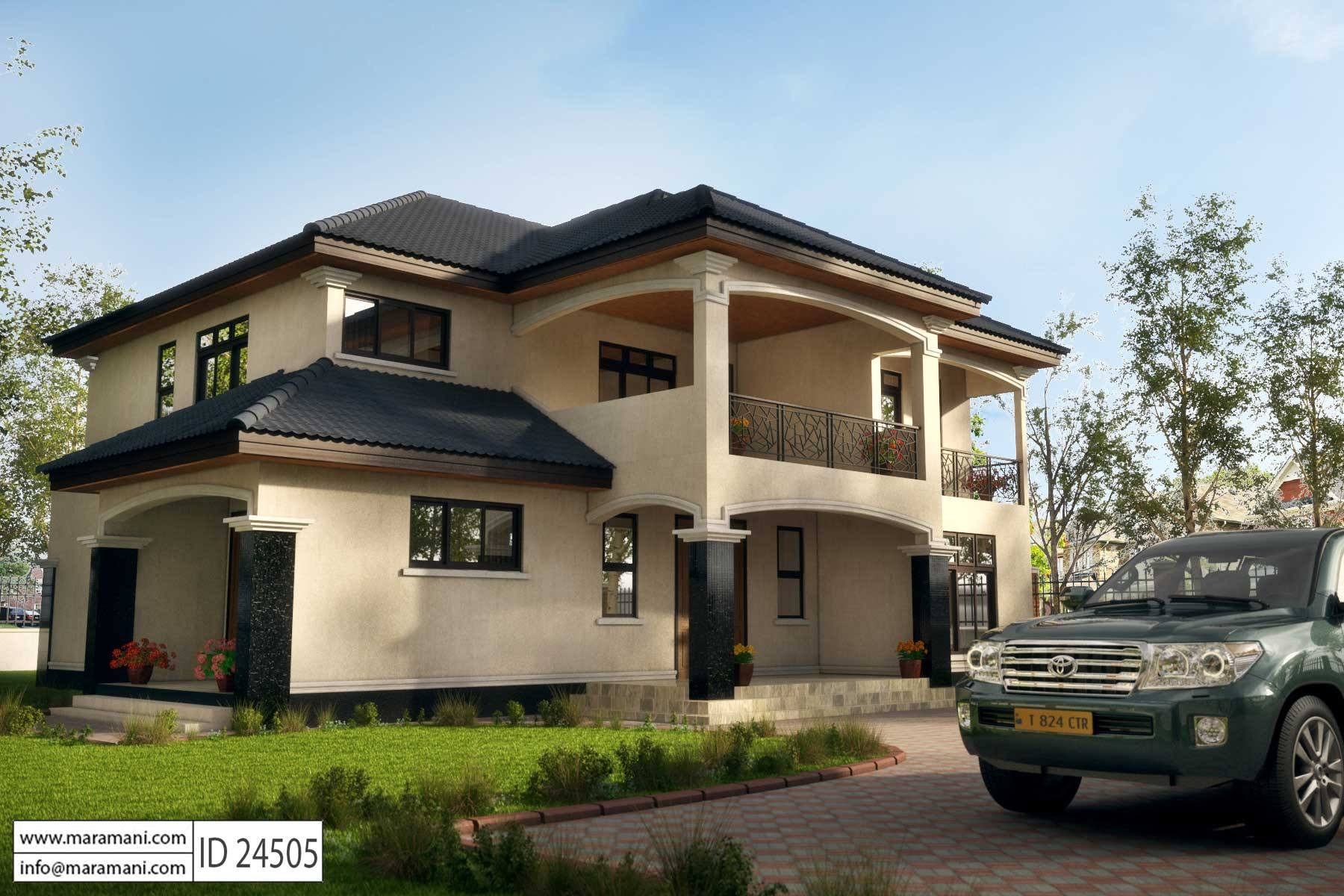 Contemporary house style - ID 24505 - House Designs by Maramani