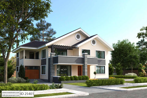 5 bedroom house plan id 25401 floor plans by maramani. Black Bedroom Furniture Sets. Home Design Ideas