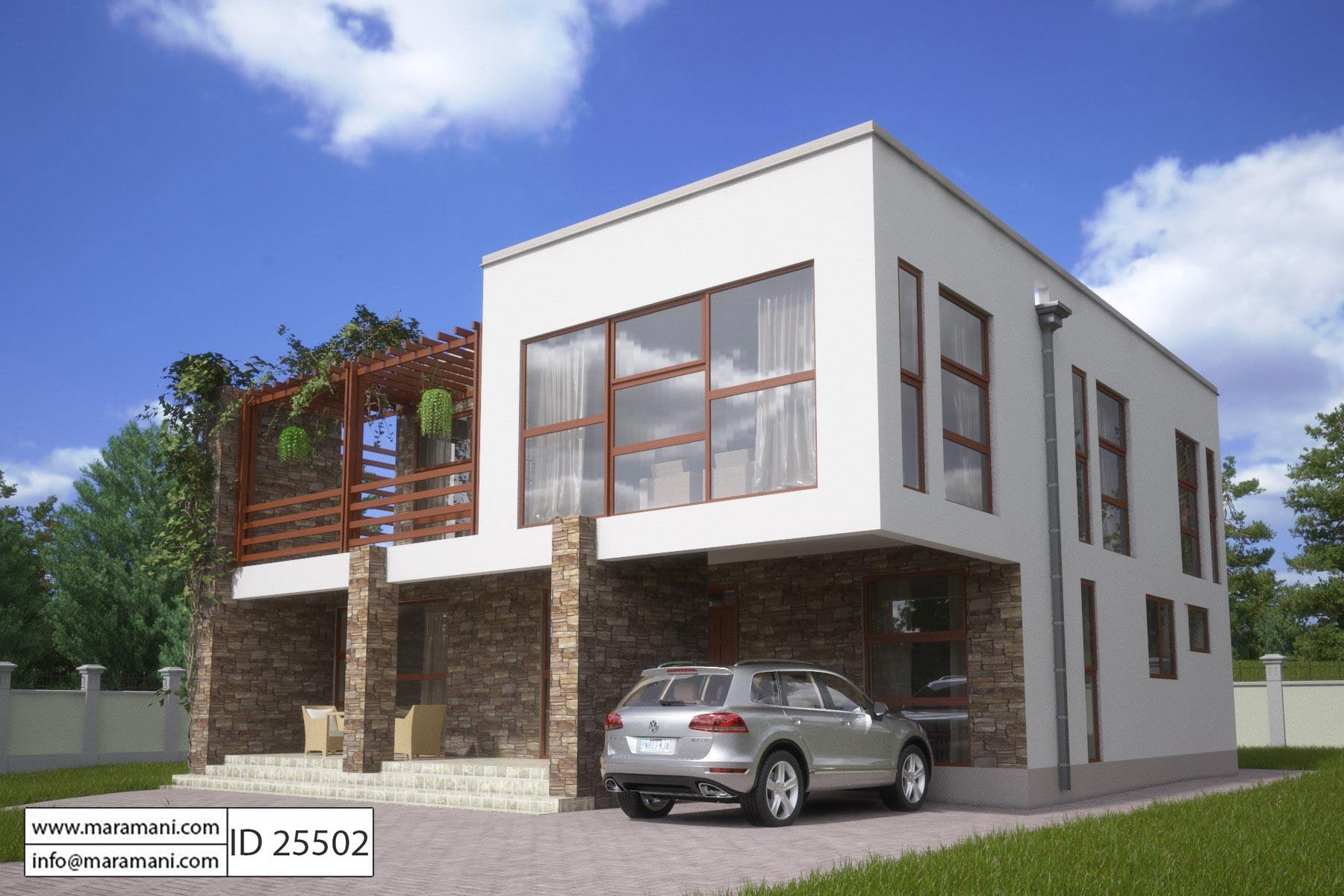 . 5 Bedroom Modern House Plan   ID 25502   Floor Plans by Maramani