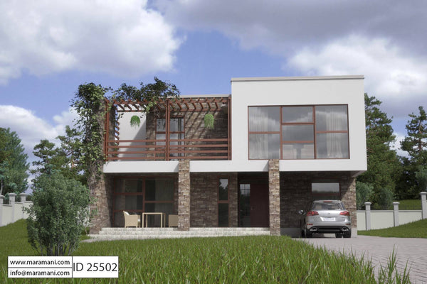 5 Bedroom Modern House Plan - ID 25502 - Floor Plans by Maramani