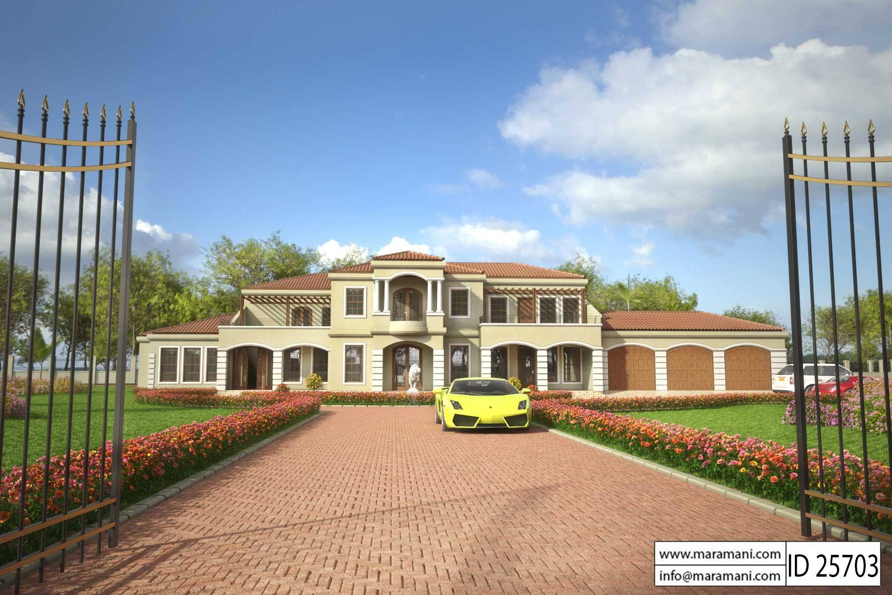 5 Bedroom House Plans Designs for Africa Maramanicom
