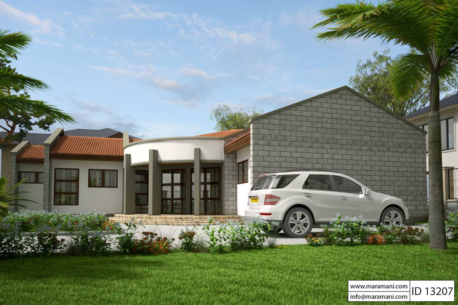 Low Budget Modern 3 Bedroom House Design - ID 13207 - Plans ...