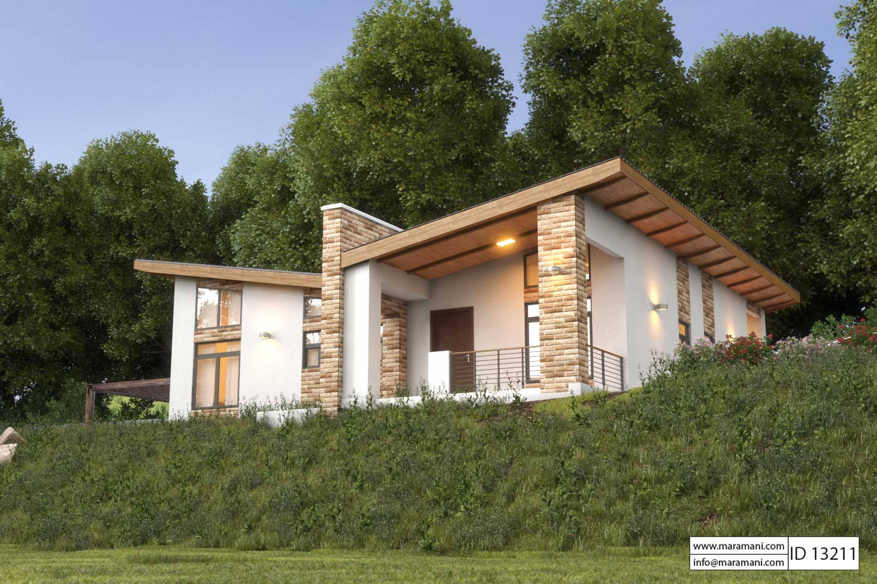 Small modern house in tanzania for Cost of building a 3 bedroom house in south africa