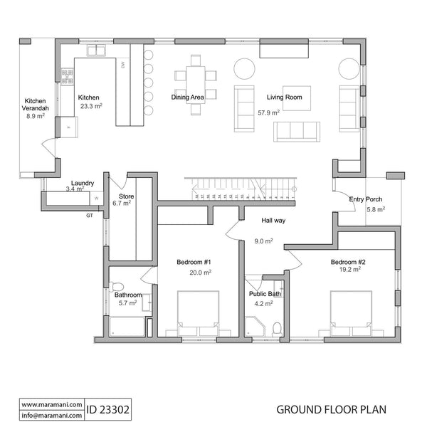 Three Bedrooms House