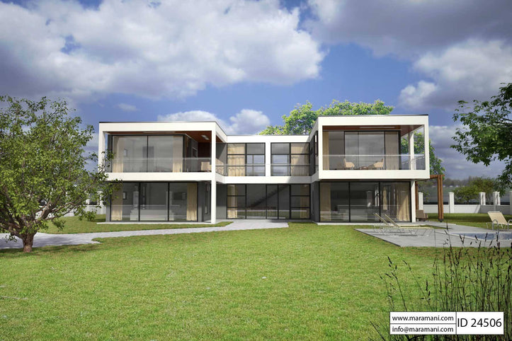 Modern Glass House Design - ID 24506 - House Plans by Maramani