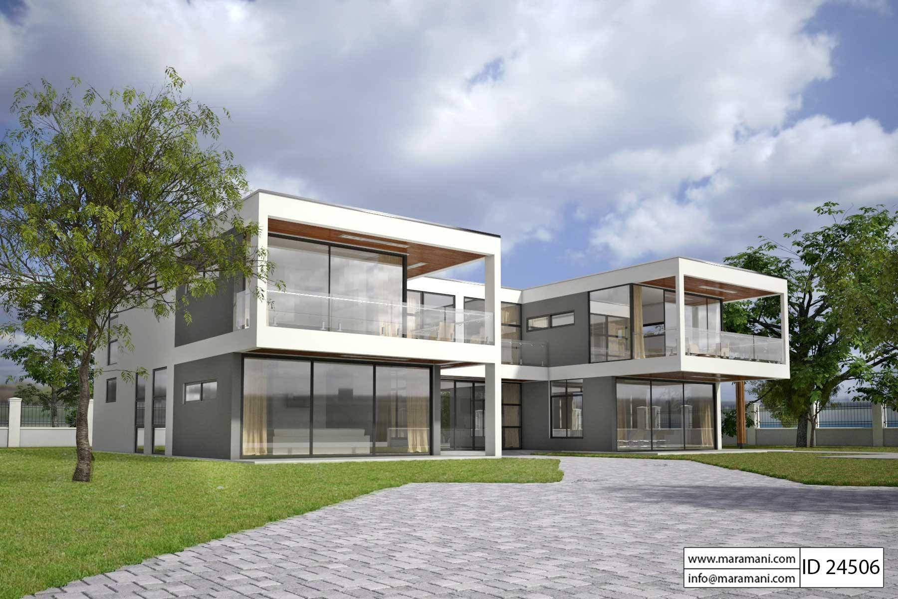 Modern glass house design id 24506 house plans by maramani for Glass house plans