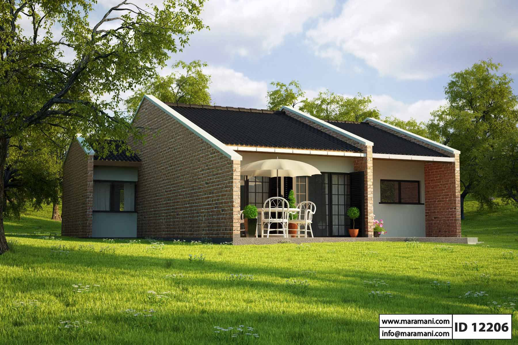 Small Brick House Design - ID 12206 - House Plans by Maramani
