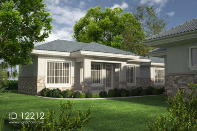 Boys quarters 2 bedroom plan - ID 12212