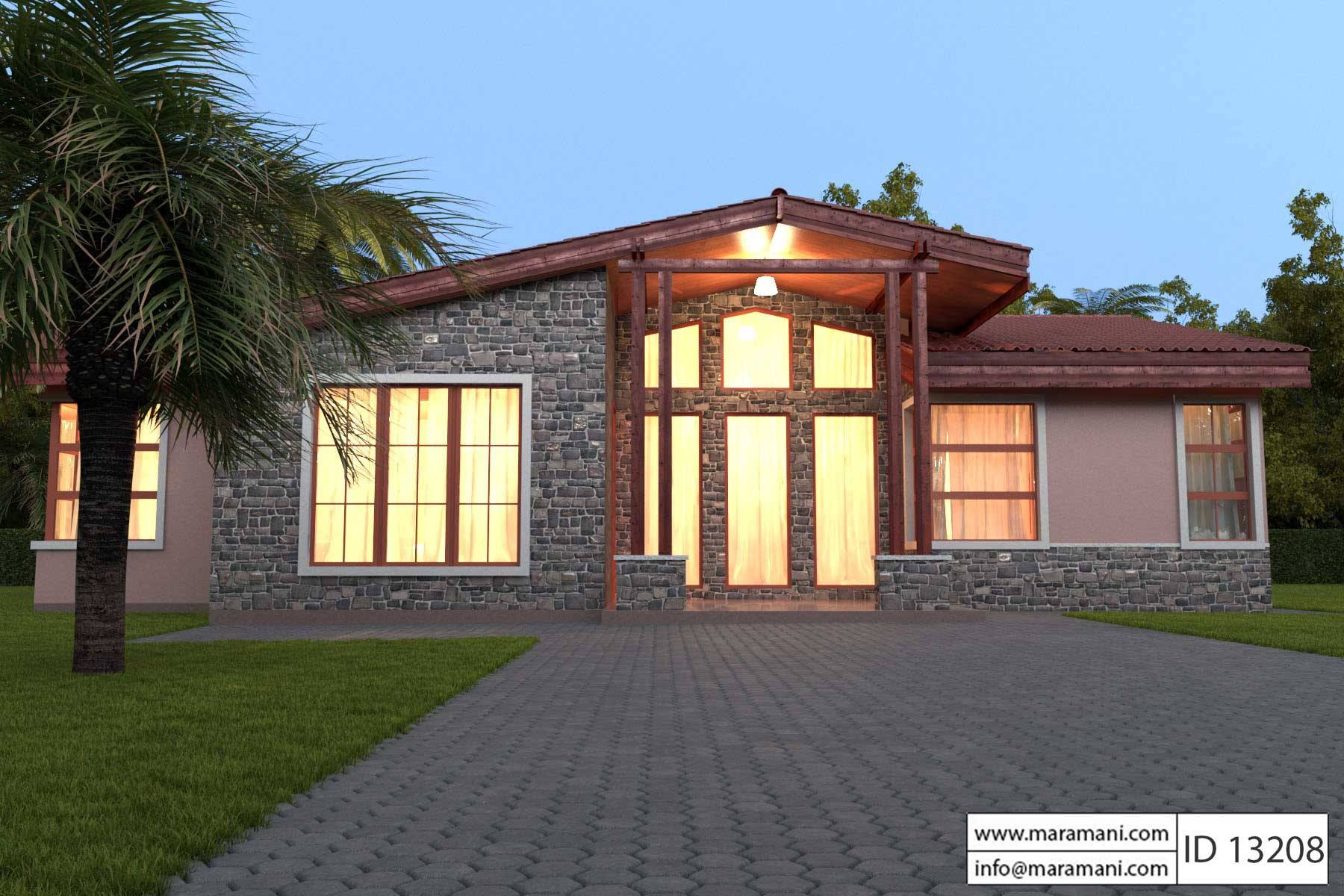 3 bedroom house plans. 3 Bedroom House Plan  ID 13208 Plans Designs for Africa by Maramani