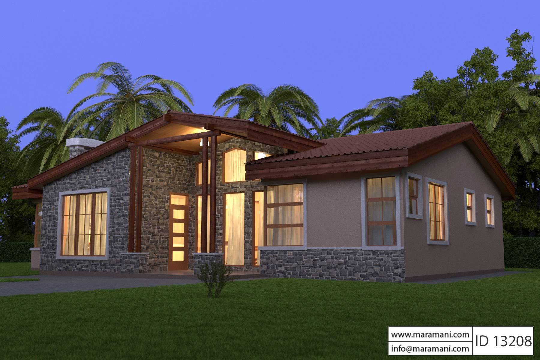 3 Bedroom Home Design Id 13208 House Designs By Maramani