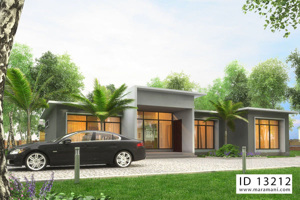 3 bedroom building plan - ID 13212 - House Designs by Maramani