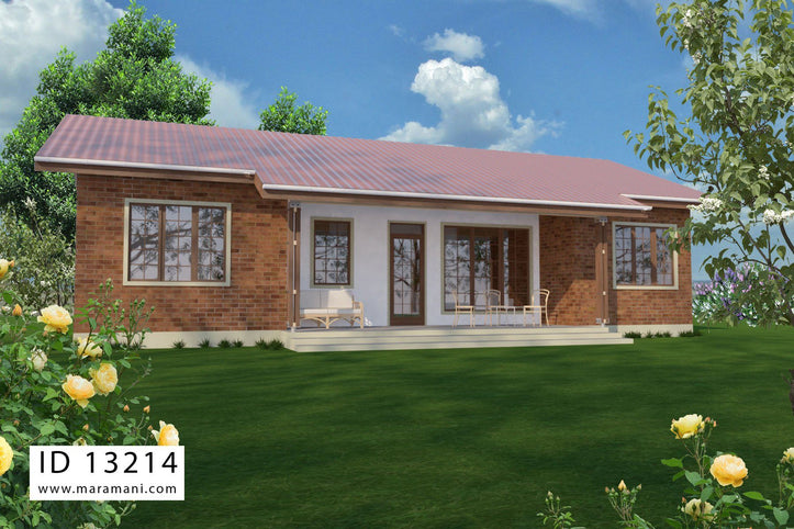 3 Bedroom burnt brick house - ID 13214 - Home Design by Maramani