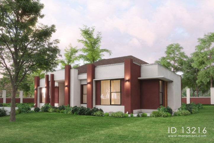 3 Bedroom house with an open plan - ID 13216 - Design by Maramani