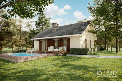 3 bedroom gable roof house - ID 13217