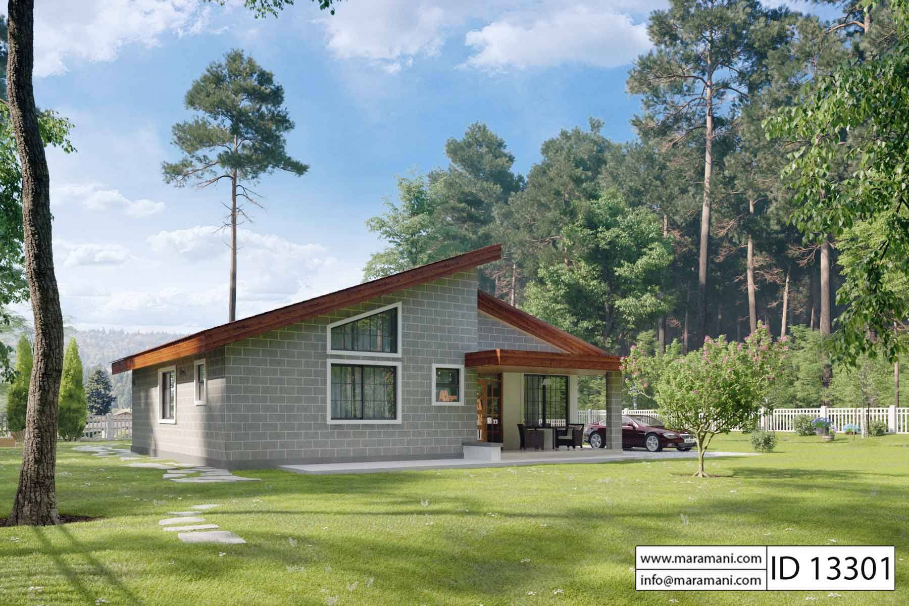 3 Bedroom Cottage Id 13301 House Designs By Maramani