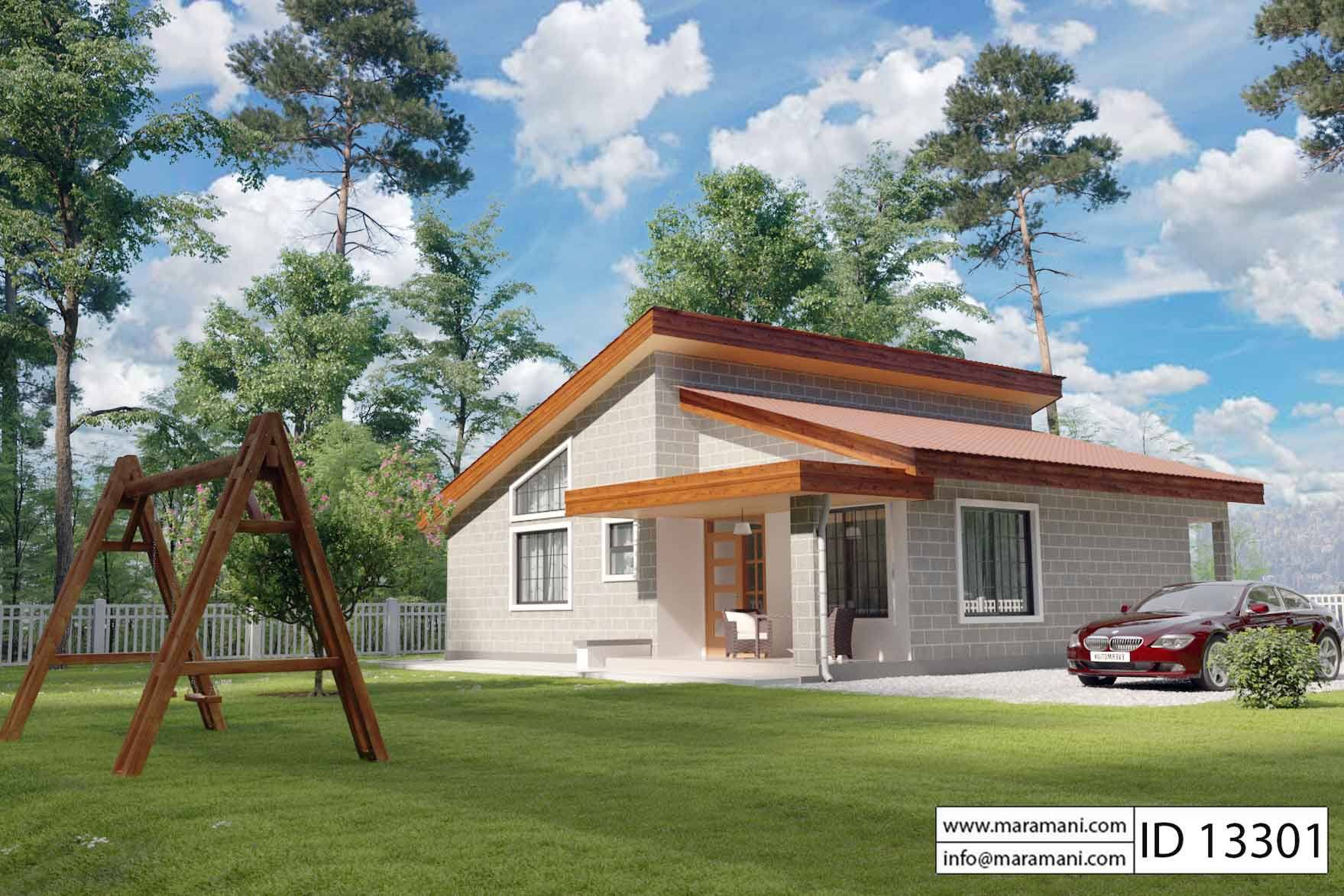 3 bedroom cottage id 13301 house designs by maramani for Idaho home plans