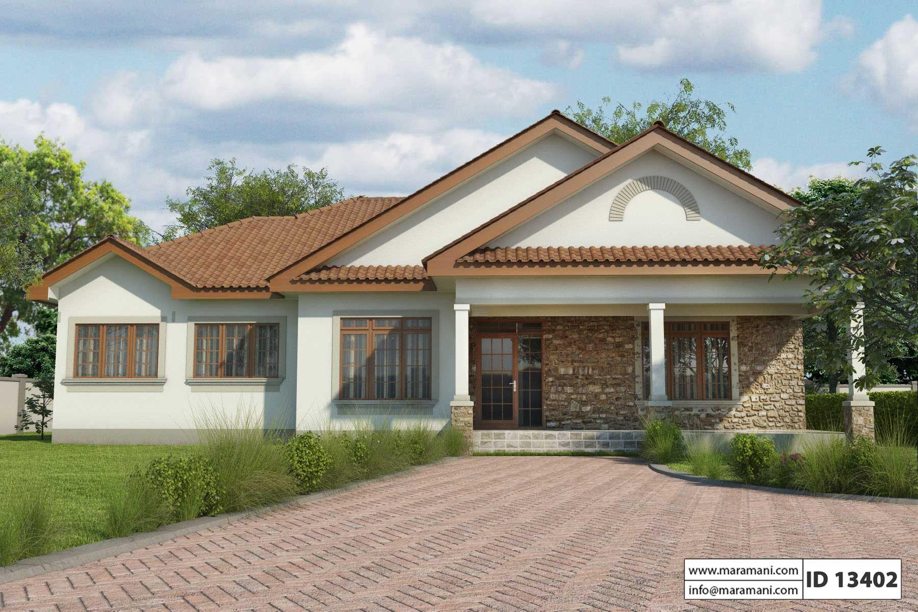 Three bedroom house id 13402 for Roofing designs in kenya