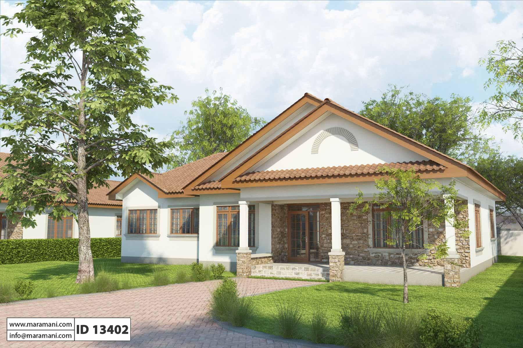 Simple 3 bedroom house plan id 13402 house designs by for Small three bedroom house