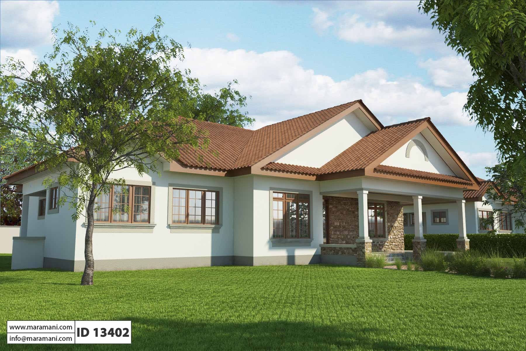 Simple 3 bedroom house plan id 13402 house designs by for Looking for a 4 bedroom