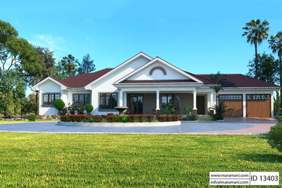 3 Bedroom Bungalow Plan - ID 13403