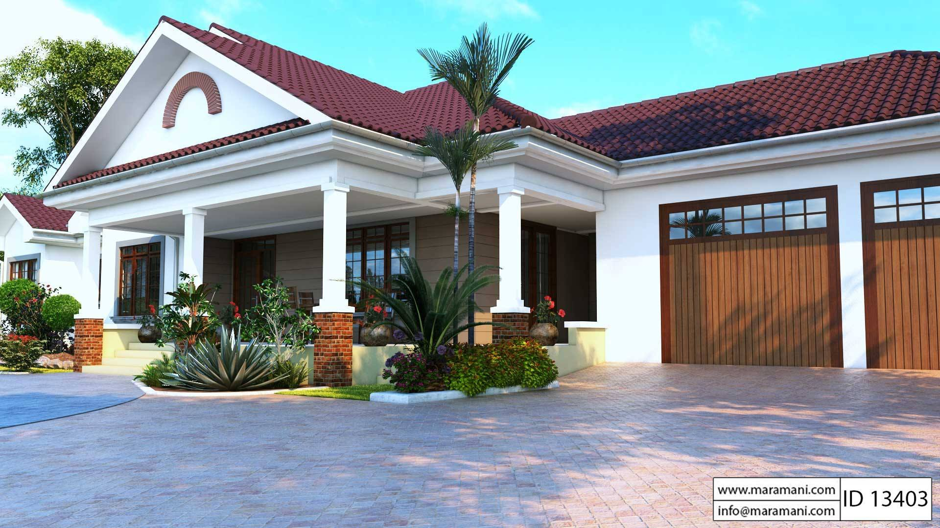 3 Bedroom bungalow with garage ID 13403 House Plans by Maramani