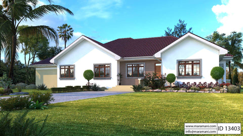 3 Bedroom Bungalow With Garage Id 13403 House Plans By
