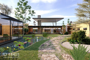 4 Bedroom glass facade house - ID 14405