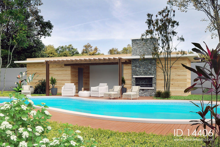 Swimming pool house - ID 14406 - House Plans by Maramani