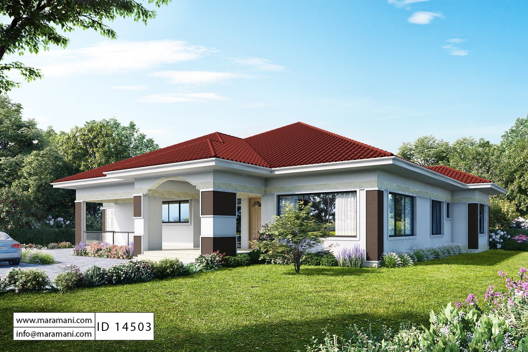 4 room house plan id 14503 house by maramani for Home planner