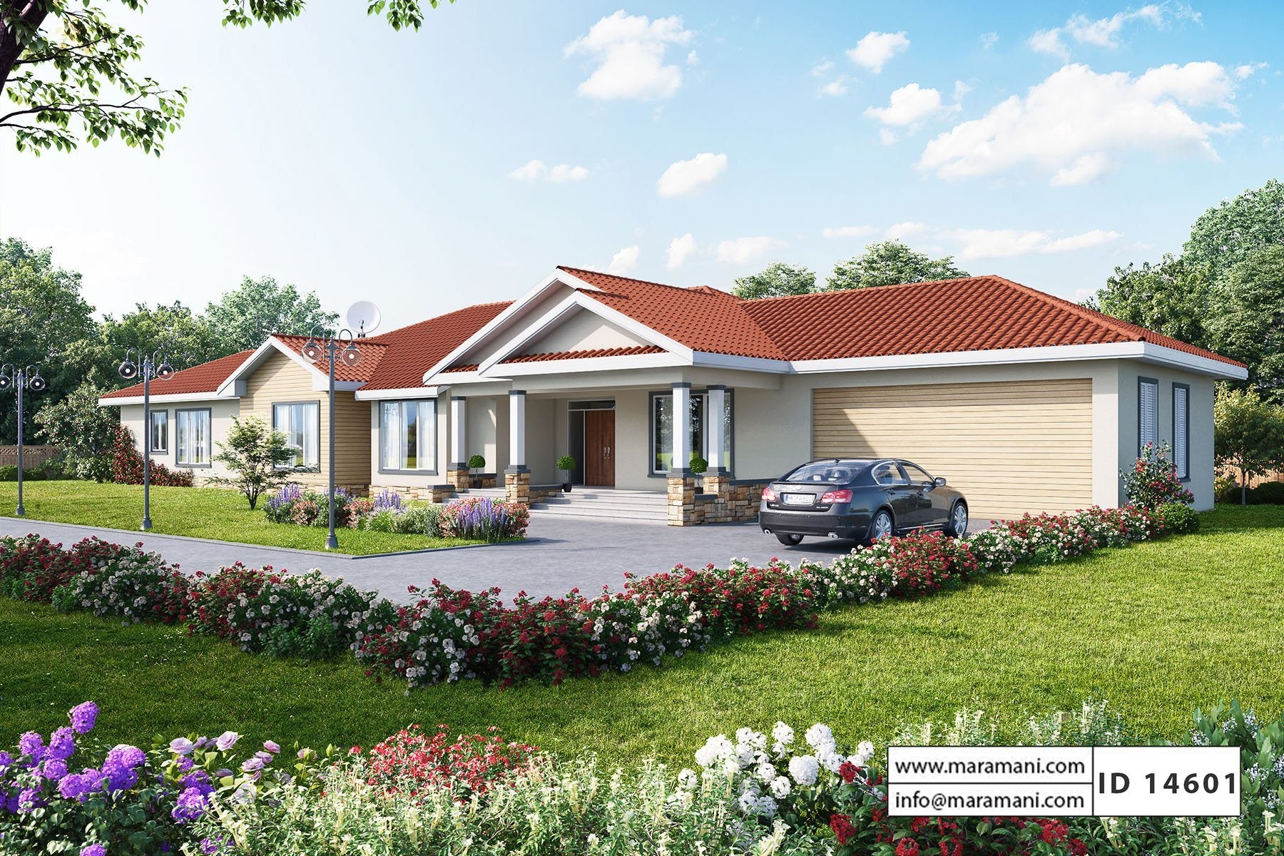 4 bedroom house plan one story